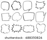 doodle design for bubble speech ... | Shutterstock .eps vector #688350826
