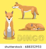 Dog Dingo Cartoon Vector Illustration