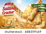 saltines cracker ads  tasty... | Shutterstock .eps vector #688359169