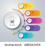timeline infographics design... | Shutterstock .eps vector #688362454