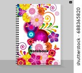 template cover a4 notebook with ... | Shutterstock .eps vector #688365820