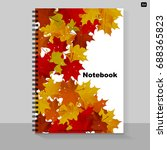 template cover a4 notebook with ... | Shutterstock .eps vector #688365823