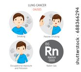man with lung cancer causes ... | Shutterstock .eps vector #688366294