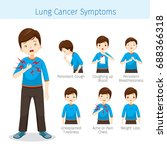 man with lung cancer symptoms ... | Shutterstock .eps vector #688366318