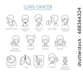 lung cancer outline icons set... | Shutterstock .eps vector #688366324