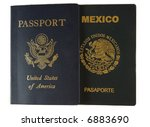 two passports | Shutterstock . vector #6883690