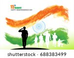 india independence day | Shutterstock .eps vector #688383499