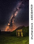 Milky Way Galaxy And Star Over...
