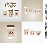 coffee on the go cups.... | Shutterstock .eps vector #688386460