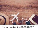 travel accessories costumes.... | Shutterstock . vector #688398520