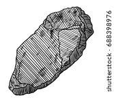 rock stone. black and white... | Shutterstock .eps vector #688398976