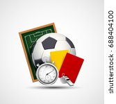 sports icon. soccer ball ... | Shutterstock .eps vector #688404100