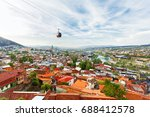 panorama view of tbilisi ... | Shutterstock . vector #688412578