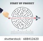 business concept backgroind. 3d ... | Shutterstock .eps vector #688412620