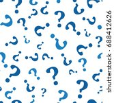 question mark seamless pattern .... | Shutterstock .eps vector #688412626