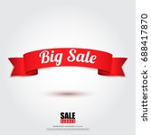 sale banner in red ribbon... | Shutterstock .eps vector #688417870