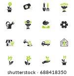 flowers web icons for user...   Shutterstock .eps vector #688418350