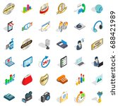 support service icons set.... | Shutterstock .eps vector #688421989