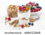 healthy dessert with natural... | Shutterstock . vector #688422868