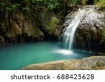 beautiful waterfall fall to... | Shutterstock . vector #688425628