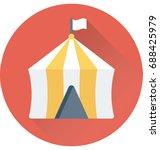 circus tent vector icon    Shutterstock .eps vector #688425979