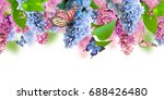 amazing spring lilac on a... | Shutterstock . vector #688426480