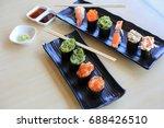 sushi rice mold wasabi japanese ... | Shutterstock . vector #688426510