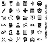 business strategy icons set.... | Shutterstock .eps vector #688428508