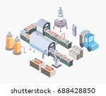 automated production line.... | Shutterstock .eps vector #688428850