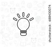 lightbulb line icon. vector... | Shutterstock .eps vector #688430074