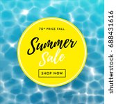 summer sale poster for discount ... | Shutterstock .eps vector #688431616