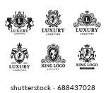 luxury boutique royal crest... | Shutterstock .eps vector #688437028