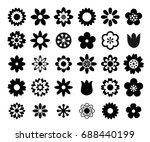 flower icon vector set | Shutterstock .eps vector #688440199