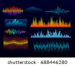 vector digital music equalizer... | Shutterstock .eps vector #688446280