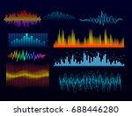 vector digital music equalizer... | Shutterstock .eps vector #688446280