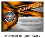 template certificate or diploma.... | Shutterstock .eps vector #688448269