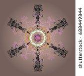 snowflake design | Shutterstock .eps vector #688449844