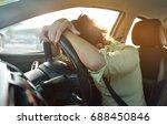 tired asian business woman... | Shutterstock . vector #688450846