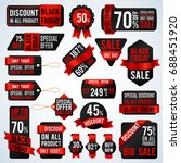 black friday sale banners and... | Shutterstock .eps vector #688451920