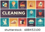 cleaning   modern vector line... | Shutterstock .eps vector #688452100