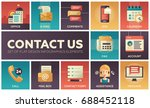 contact us   modern vector flat ... | Shutterstock .eps vector #688452118