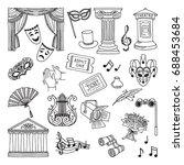 doodle illustration set of...   Shutterstock .eps vector #688453684