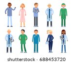 healthcare people in hospital.... | Shutterstock .eps vector #688453720