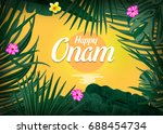 illustration of onam background ... | Shutterstock .eps vector #688454734