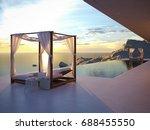 3d rendering. beautiful sunset... | Shutterstock . vector #688455550