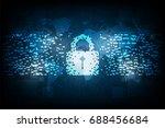 security in digital format. | Shutterstock .eps vector #688456684