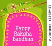 illustration greeting card of... | Shutterstock .eps vector #688459459