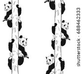 seamless pattern with panda... | Shutterstock .eps vector #688462333