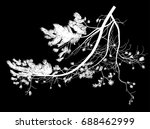 illustration with pine tree... | Shutterstock .eps vector #688462999
