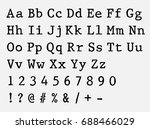 vector typewriter font. vintage ... | Shutterstock .eps vector #688466029